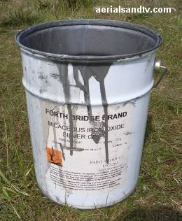 Micaceous Iron Oxide paint used to paint transmitters