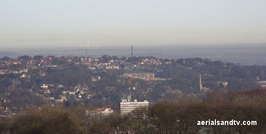 View of Sheffield from the NE, Crosspool is visible on the brow of the hill in the middle of the picture