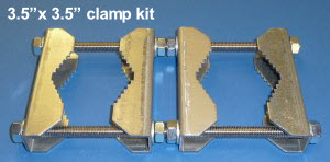3.5in clamp kit, clamps poles even bigger than 3in !