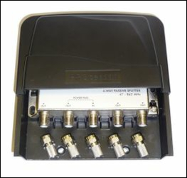 4 way mast head / external weather proof splitter.