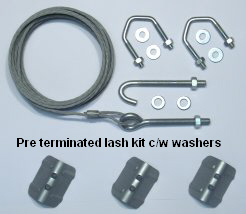 Pre-terminated lashing kit, c/w washers.....