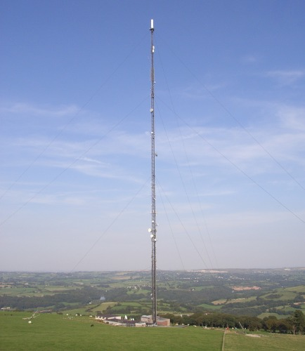 Moel Y Parc TV transmitter (and the view)