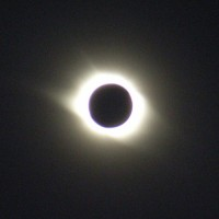 Moon fully covering the sun, 2008 solar eclipse : Yiwu China