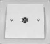 1 way CoAx wall plate