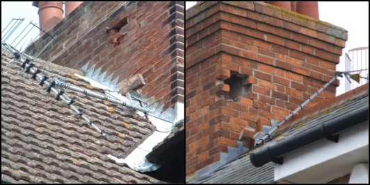 Wall bracket mounted on a chimney 2