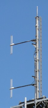 Vertically polarised transmitting antennas at Acklam Wold