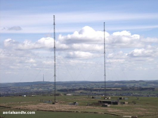 Moorside edge MW transmitter with Emley Moor in the left background