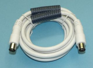 Quality male to male CoAx lead, available in 2m and 4m lengths