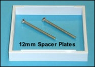 12mm spacer plate, to increase the space available with shallow pattress boxes