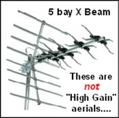 5 bay X beam aerials, not high gain....