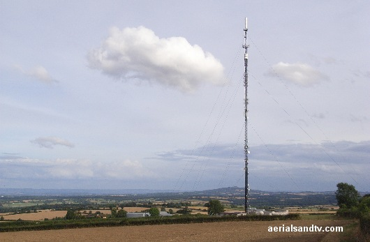 Ridgehill TV transmitter and view