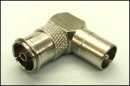 Male to female right angle CoAx adapter