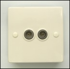 2 way CoAx wall plate