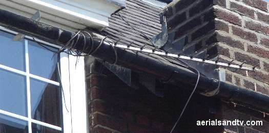 Saves on using a bracket I suppose, or a pole come to that........