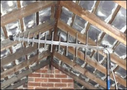 Loft aerial, or more accurately, an outside aerial in a loft.