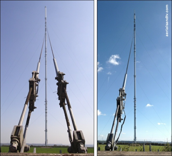 Belmont transmitter before and after shortening from the outer stay anchor 531H L5 kB