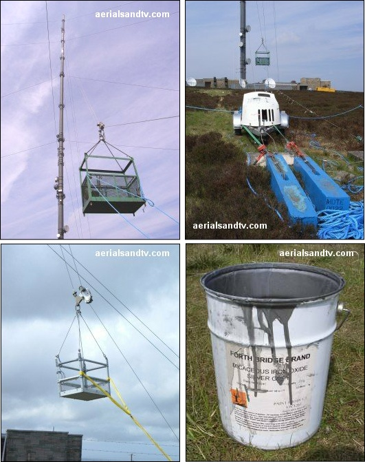 Painting Bilsdale transmitter, and its Bosuns chair 530W L5