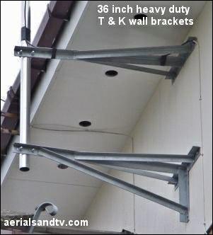 36 inch T & K wall brackets 301W 332H L5