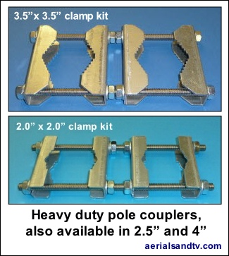 ATV heavy duty pole couplers 325W L5