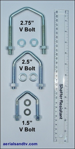 ATV stock V bolts 1.5 2.5 and 2.75 inch 262W L5