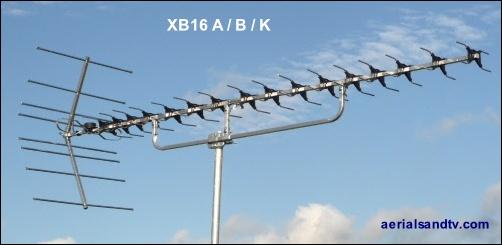 ATV's choice of TV aerials - the XB16 502W L10 21kB