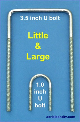 ATV's smallest and largest V bolts - U bolts 262W x 400H L10