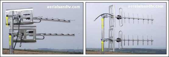 Aerial positioning - separation effect on received signal 555W L5
