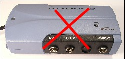 Amplifiers do NOT compensate for a low gain aerial or a poor signal 250W 12kB