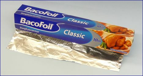 Bacofoil what some budget type aerial are made of, more or less anyway 468W L20 kB