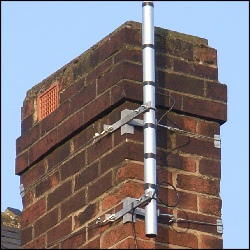 Chimney brackets in situ 250Sq L5