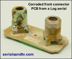 Corroded Log Periodic PCB due to water ingress  250W L10