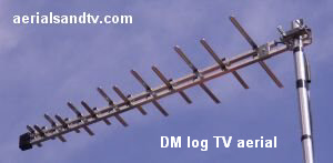 DM Log TV aerial best for caravans and boats 300W 14kB
