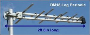 DM18 Log TV aerial 300W L10