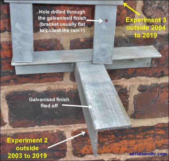 Damaged galvanised finish corrosion tests 2 off 2004 and 2003 to 2019 550W L10