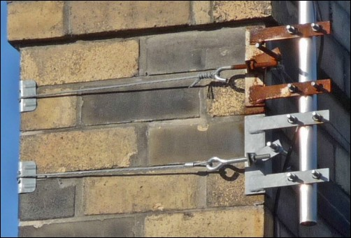 Double chimney bracket install 502W L5