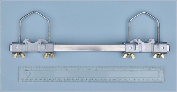 Double clamp - handcuff clamp - jockey wheel clamp 602 L5W kB
