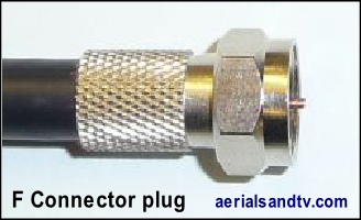 F connector wide nut 200H L5