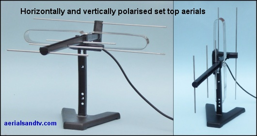 Horizontally and vertically polarised set top aerial 530W L5
