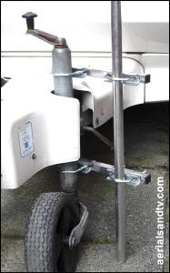 Jockey wheel attachment using a double clamp 300H L5