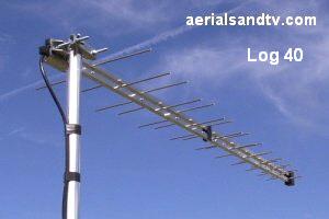 Log 40 TV aerial 300W L5 16kB