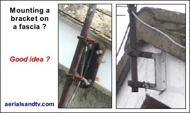 Mounting a wall bracket on a fascia - not a good idea 373W L5