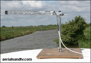 Mounting an aerial on a board on top of your boat or caravan 2 301W L5 7kB