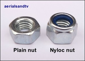 Nyloc and plain nuts 300W L10 10kB