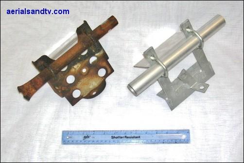 Pre galv pressed bracket v hot dip galv welded bracket 502W L10
