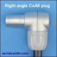Right angle coax plug 200H L5