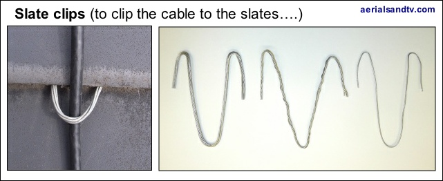 Slate clips to secure the cable to the roof 641W L5