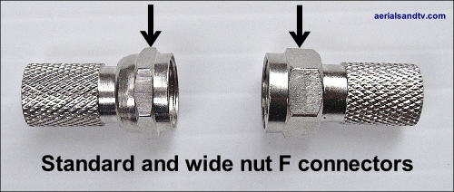 Standard and wide nut F connecters 500W L5