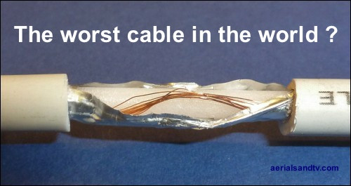 Worst coax cable fly lead in the world 500W L5