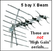 XB5 TV aerial, NOT high gain 176Sq L5