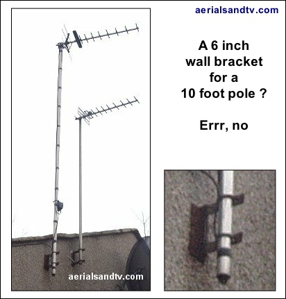 A six inch wall bracket in Settle is not enough 431H L5
